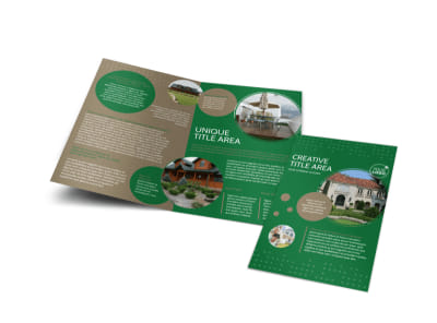 Beautiful Home Landscape Bi-Fold Brochure Template