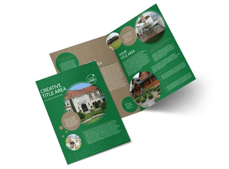 Beautiful Home Landscape Bi-Fold Brochure Template