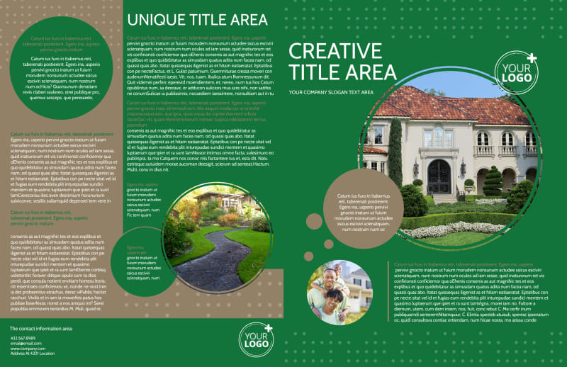 Beautiful Home Landscape Brochure Template Preview 2