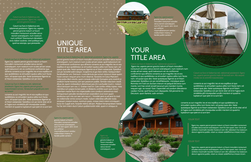 Beautiful Home Landscape Brochure Template Preview 3