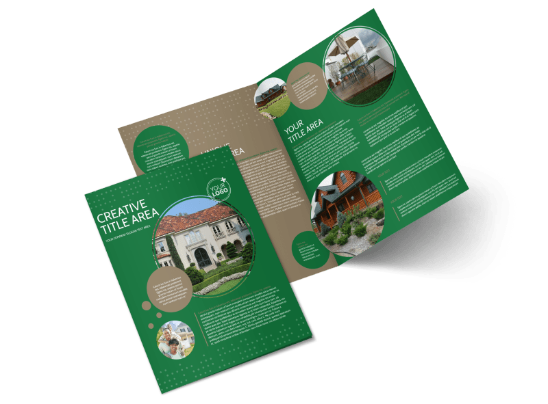 Beautiful Home Landscape Brochure Template Preview 1
