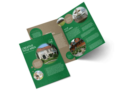 Beautiful Home Landscape Bi-Fold Brochure Template preview