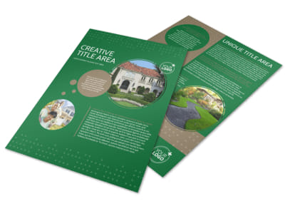 Beautiful Home Landscape Flyer Template preview