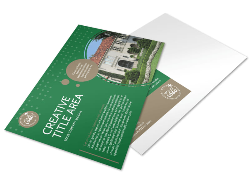 Beautiful Home Landscape Brochure Template  Mycreativeshop