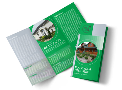 Residential Landscaping Tri-Fold Brochure Template preview