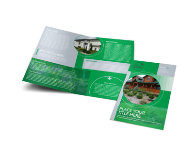 Residential Landscaping Bi-Fold Brochure Template preview