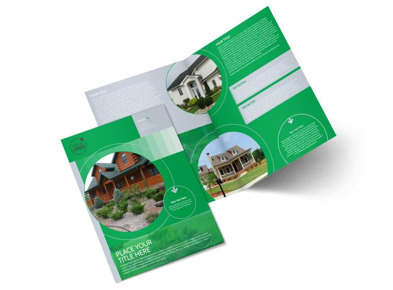 Residential Landscaping Bi-Fold Brochure Template