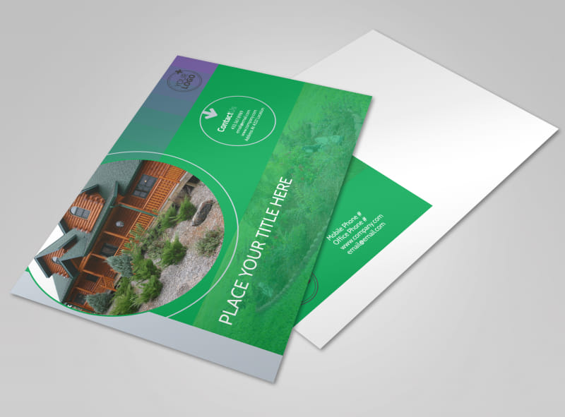Residential Landscaping Postcard Template