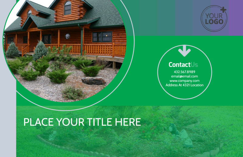 Residential Landscaping Postcard Template Preview 2