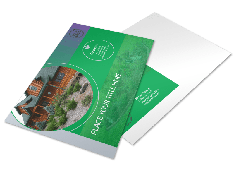 Residential Landscaping Postcard Template Preview 1