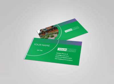 Residential Landscaping Business Card Template preview