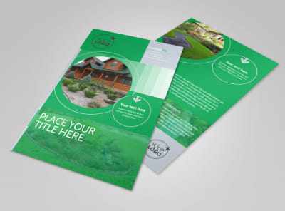 Residential Landscaping Flyer Template preview