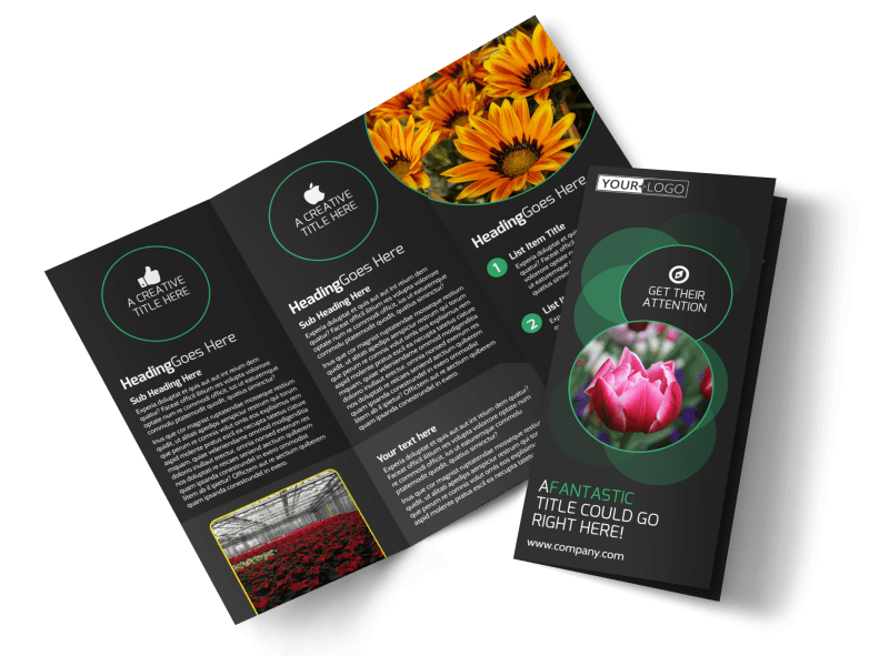 Floral Greenhouse Brochure Template Preview 1