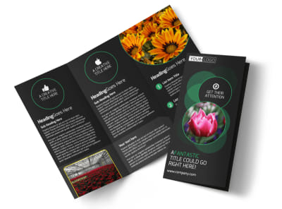 Floral Greenhouse Tri-Fold Brochure Template preview