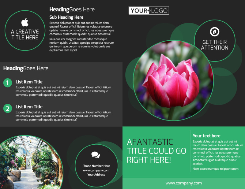Floral Greenhouse Brochure Template Preview 2