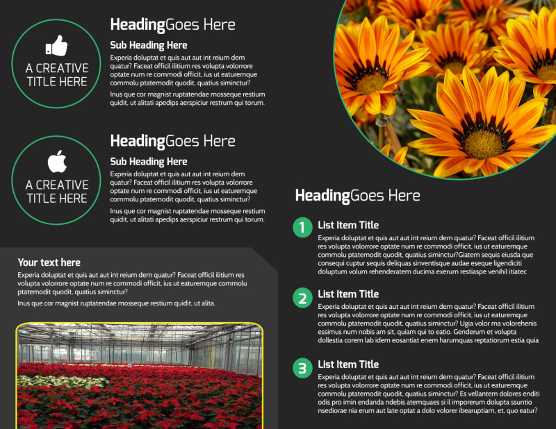 Floral Greenhouse Brochure Template Preview 3