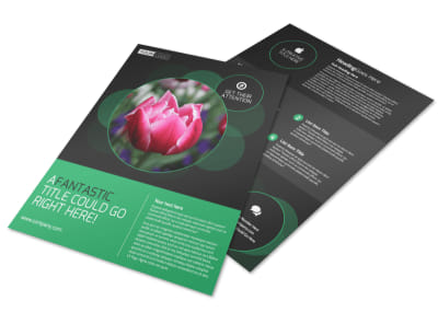 Floral Greenhouse Flyer Template preview