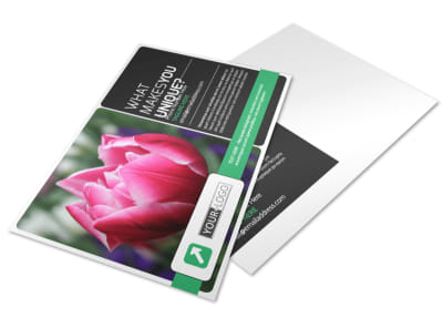 Floral Greenhouse Postcard Template