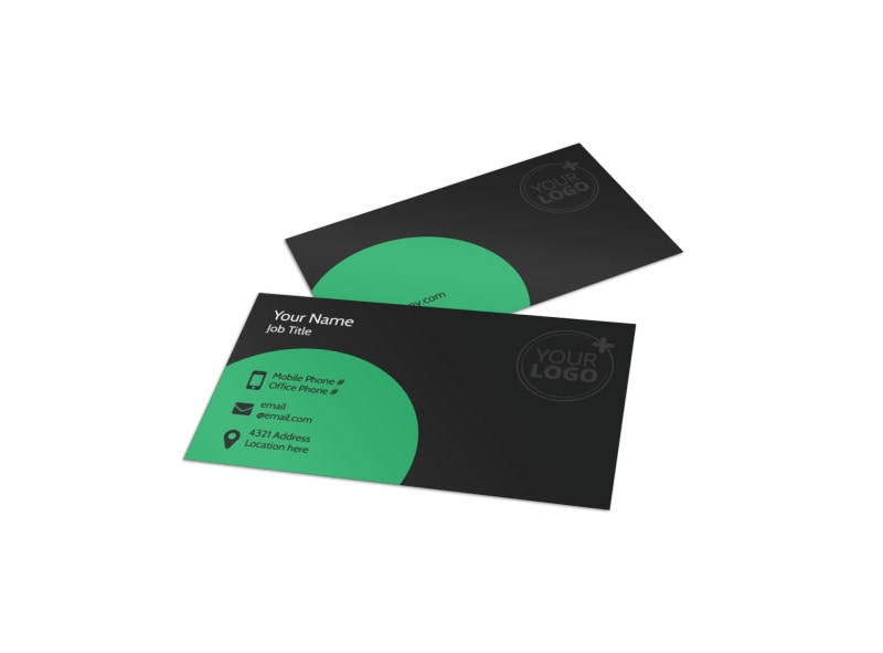 Floral Greenhouse Business Card Template