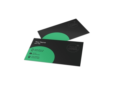 Floral Greenhouse Business Card Template preview