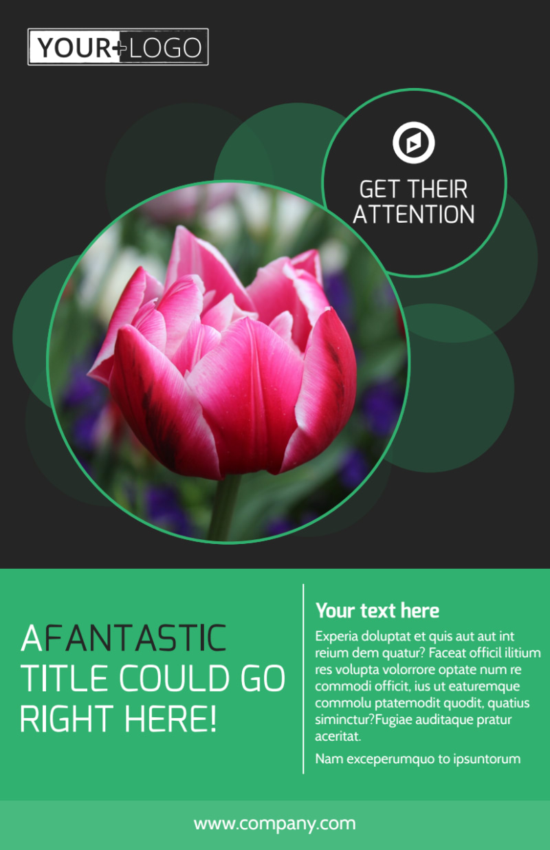 Floral Greenhouse Flyer Template Preview 2