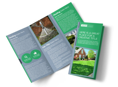 Tailored Lawn Care Tri-Fold Brochure Template preview