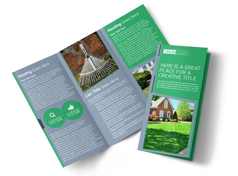 Tailored Lawn Care Tri-Fold Brochure Template