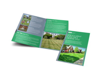 Tailored Lawn Care Bi-Fold Brochure Template preview
