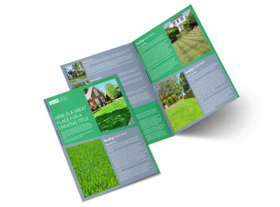 Tailored Lawn Care Bi-Fold Brochure Template