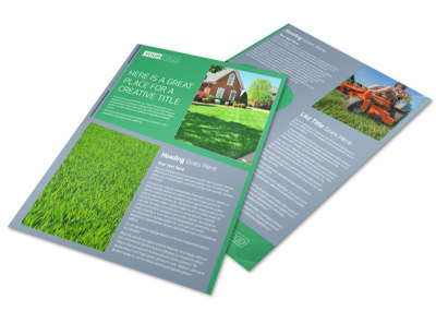 Tailored Lawn Care Flyer Template