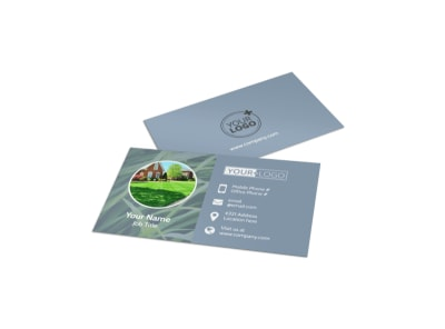 Tailored Lawn Care Business Card Template preview