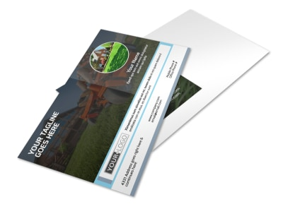 Tailored Lawn Care Postcard Template preview