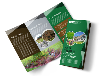 Landscaper Tri-Fold Brochure Template preview