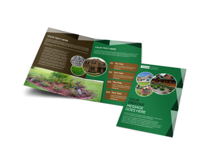 Landscaper Bi-Fold Brochure Template preview
