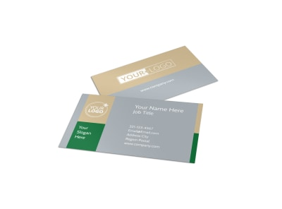 Landscaper Business Card Template preview
