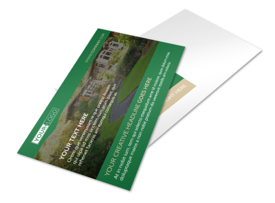 Landscaper Postcard Template preview