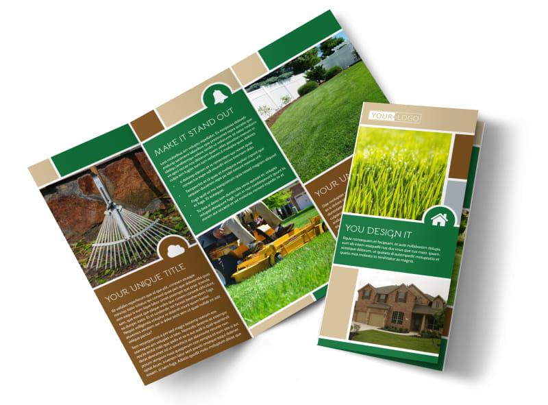 Elite Lawn Care Tri-Fold Brochure Template