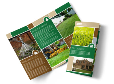 Elite Lawn Care Tri-Fold Brochure Template preview