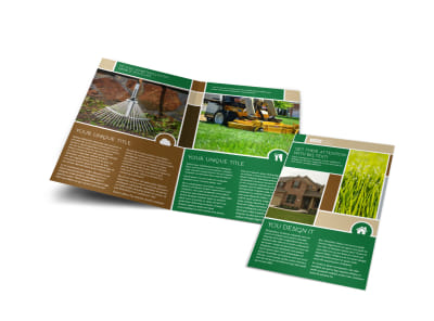 Elite Lawn Care Bi-Fold Brochure Template preview