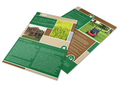 Elite Lawn Care Flyer Template preview