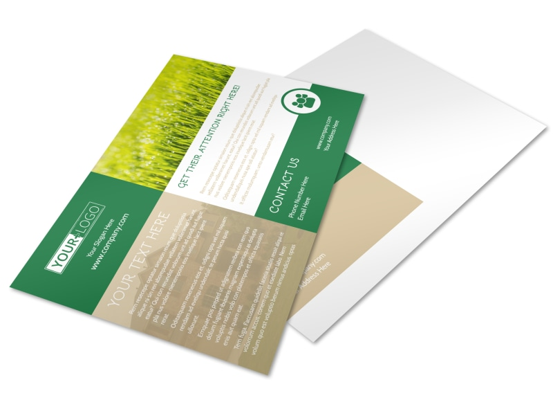 Elite Lawn Care Postcard Template