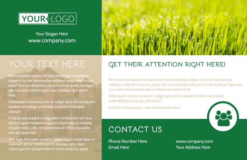Elite Lawn Care Postcard Template Preview 2
