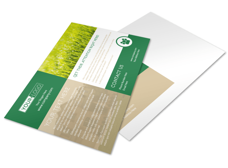 Elite Lawn Care Postcard Template Preview 1
