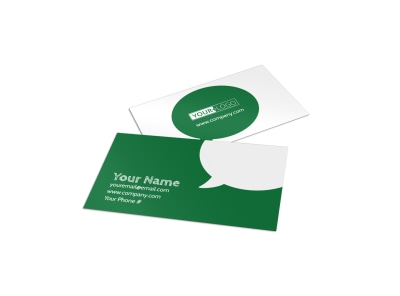 Elite Lawn Care Business Card Template preview