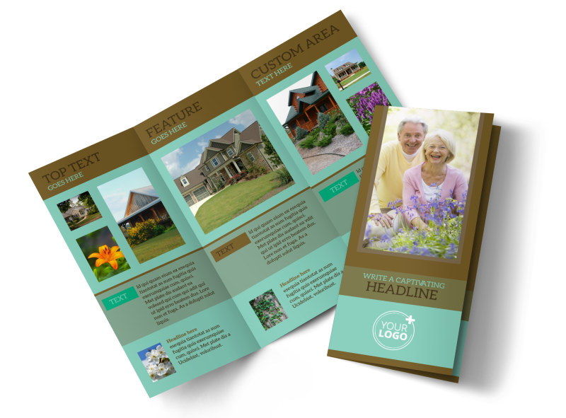 Beautiful Landscaping Tri-Fold Brochure Template