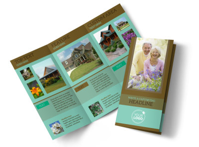 Beautiful Landscaping Tri-Fold Brochure Template preview
