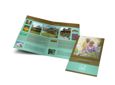 Beautiful Landscaping Bi-Fold Brochure Template preview