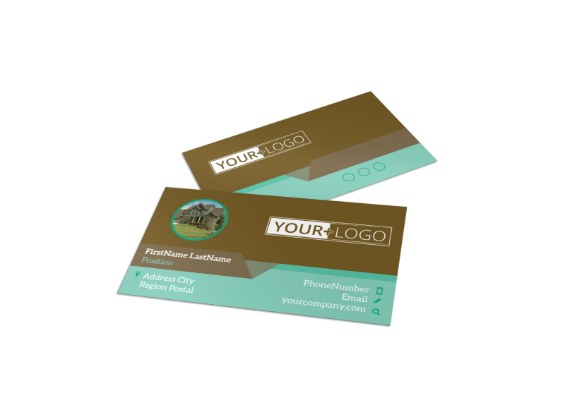 Beautiful Landscaping Business Card Template Preview 1