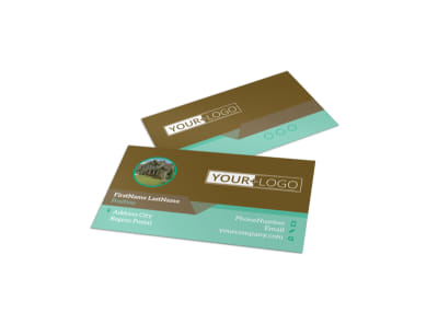 Beautiful Landscaping Business Card Template preview