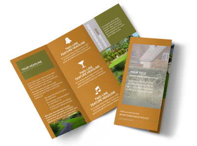 Curb Appeal Landscape Tri-Fold Brochure Template preview